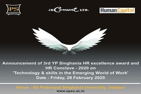 Sir Padampat Singhania University set to host HR Conclave 2020